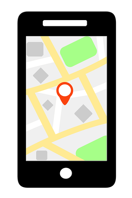 Phone with GPS app.
